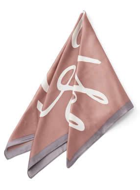 ロゴ配色スカーフ