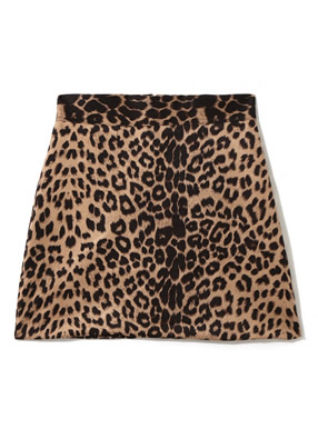 レオパード台形スカート