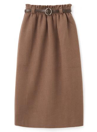 ベルト付ニットタイトスカート