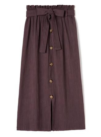 リボンベルト付きフロントスリットスカート