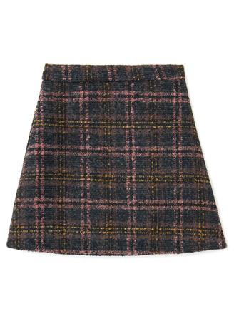 インパン付きツイード台形スカート