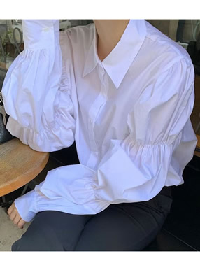ギャザースリーブシャツ