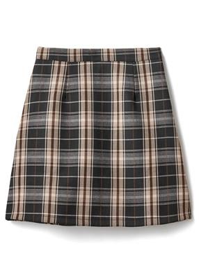 インパン裏地付きチェック柄台形ミニスカート