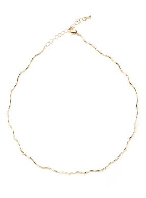 真鍮ウェーブネックレス