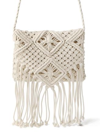 紐編みショルダーバッグ