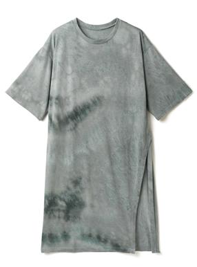 タイダイ柄サイドスリットチュニックTシャツ