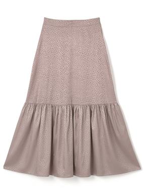 レオパート柄サテンマーメイドスカート