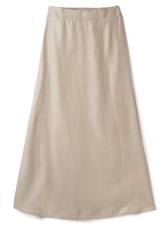 光沢セミフレアロングスカート