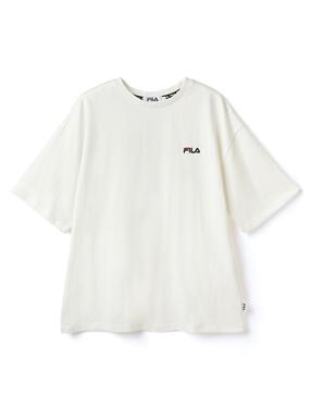 FILA刺繍クルーネックビッグTシャツ