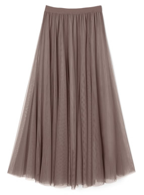 今田美桜 ボリュームチュールロングスカート