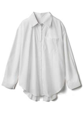 ボタンバックスリットシャツ