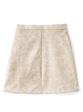 パイソン柄台形ミニスカート