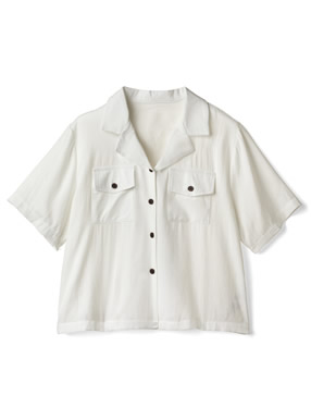 開襟ワークポケットシャツ