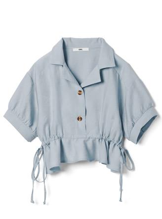サイドドロストテーラードカラーシャツ