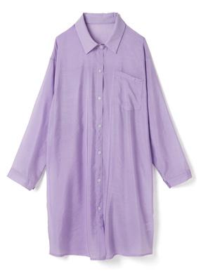 胸ポケットガーゼロングシアーシャツ