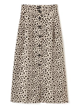 フロントボタンダルメシアンタイトスカート