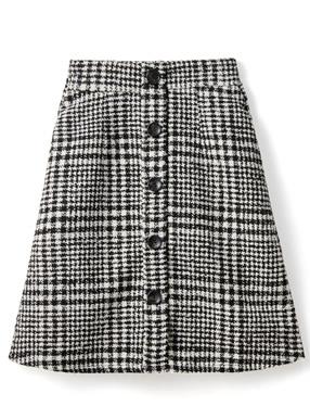グレンチェックツイード台形ミニスカート