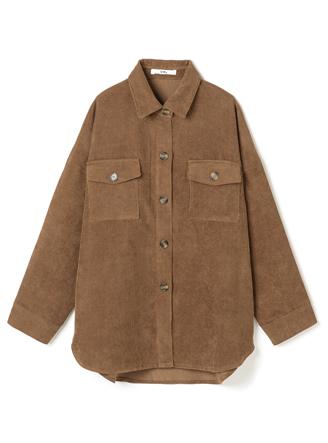 ビッグシルエットコーデュロイシャツジャケット