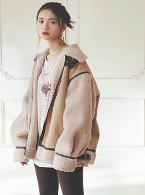 スエードXボアジャケット