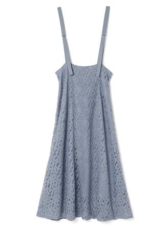 花柄レースジャンパースカート