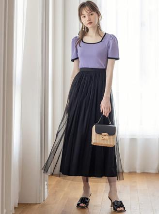 チュールリバーシブルスカート