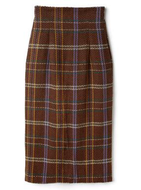 チェックタイトロングスカート
