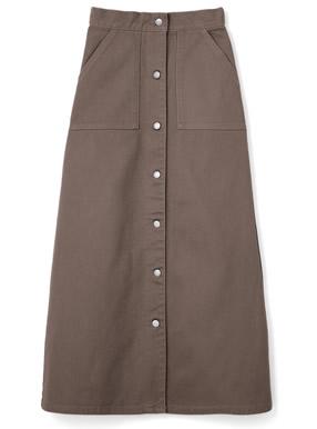 フロントボタンベイカースカート