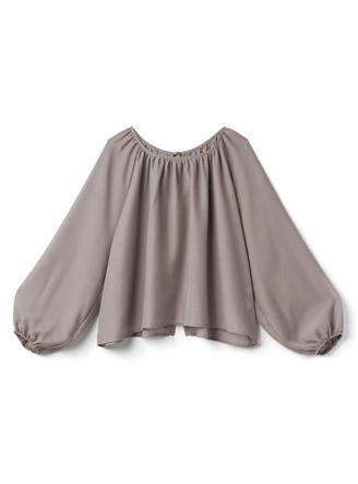 バックオープンリボンシアーシャツ