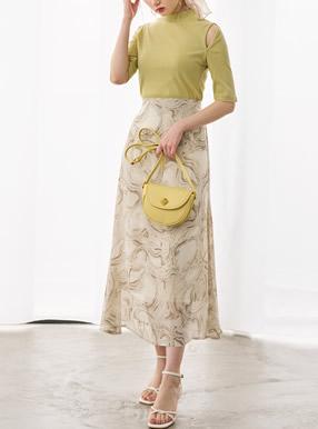 地層柄シアースカート