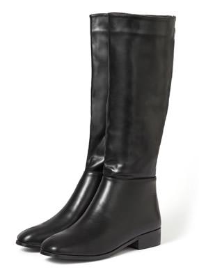 スクエアトゥミドル丈ブーツ