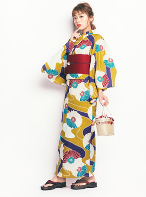 4点セット古典菊浴衣