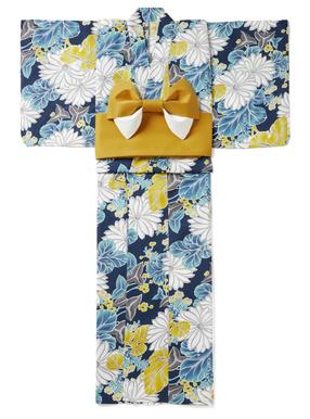 4点セット水彩菊浴衣