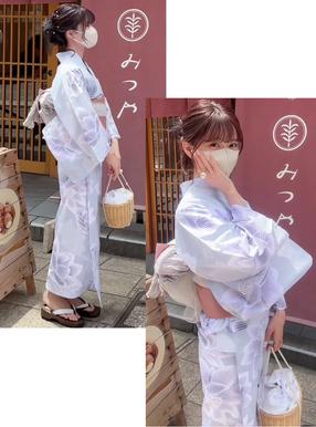 与田祐希(乃木坂46)4点セット蓮の花柄浴衣
