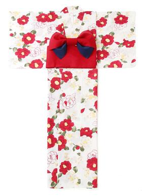 4点セット椿浴衣