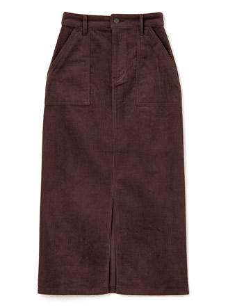 コーデュロイタイトベイカースカート