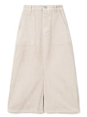 フロントスリットロングコーデュロイスカート
