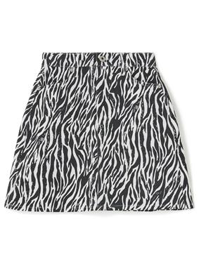 ゼブラ柄台形ミニスカート