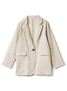 リネン混テーラードジャケット
