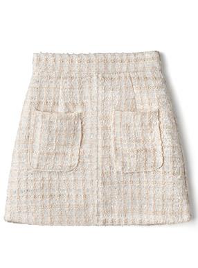 ツイード台形ミニスカート