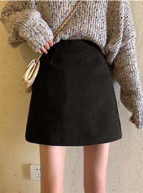 起毛台形ミニスカート