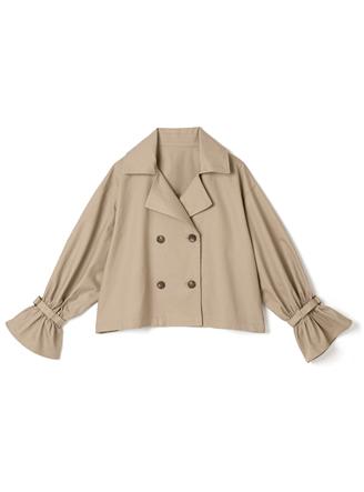 トレンチ風ツイルジャケット