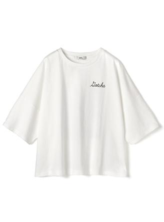 バックフォトプリントロゴTシャツ