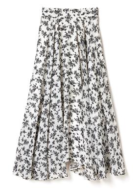 花柄フレアヘムスカート