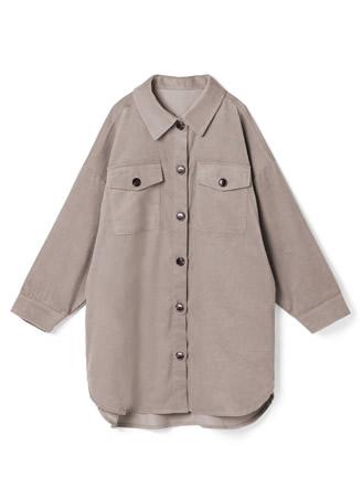 コーデュロイロングシャツジャケット