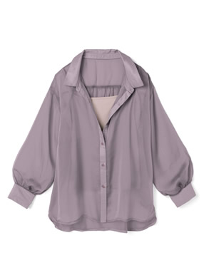 キャミソール付きシースルービッグシャツ