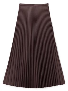 田中みな実 レザーライクプリーツスカート
