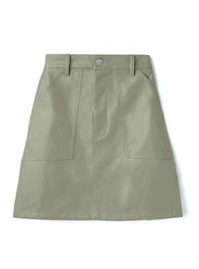 レザーベイカースカート