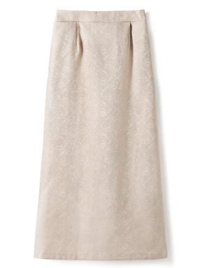 サテンジャガードナロースカート
