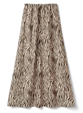 ゼブラ柄ロングスカート