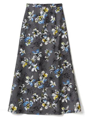 花柄バックスリットマーメイドスカート